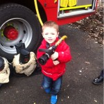 The Fire Service are recruiting 'em young these days!